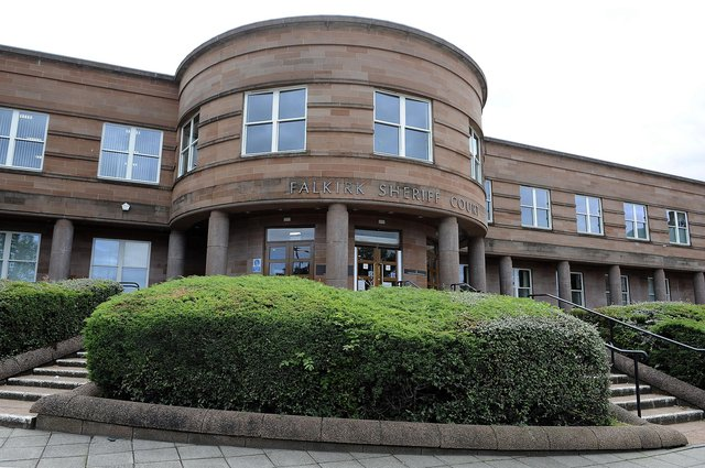 Gibson appeared at Falkirk Sheriff Court on Thursday to answer for damaging property and his threatening behaviour