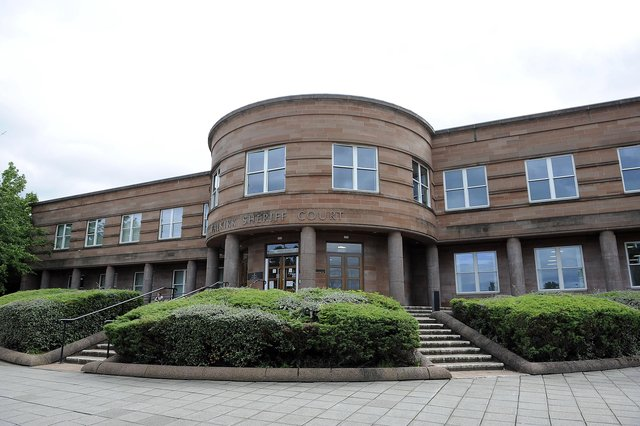 Redding man Michael Paris was fined and placed under supervision at Falkirk Sheriff Court. Picture: Michael Gillen.