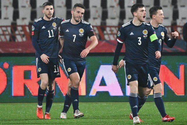 Scotland can at last rely on star performers like Andy Robertson (2nd right) after years of failure, says Craig Brown (Pic by Getty Images)