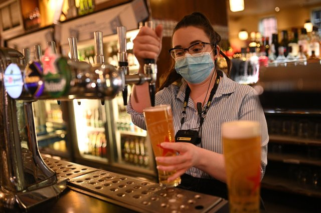 Wetherspoonis currently compiling a list of Scottish pubs which can reopen if and when the Scottish Governmentgive the go ahead.(Photo by OLI SCARFF/AFP via Getty Images)