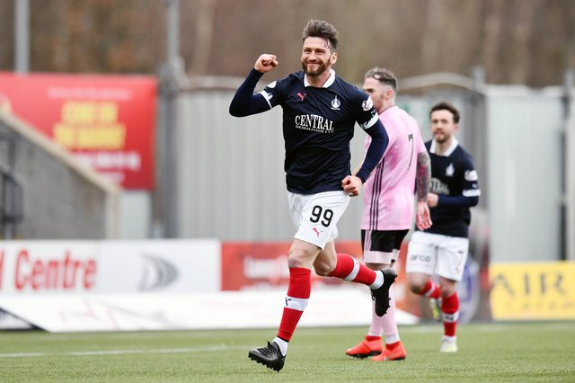 Miller made 11 appearances as a player for Falkirk in his third spell at the club and scored one goal