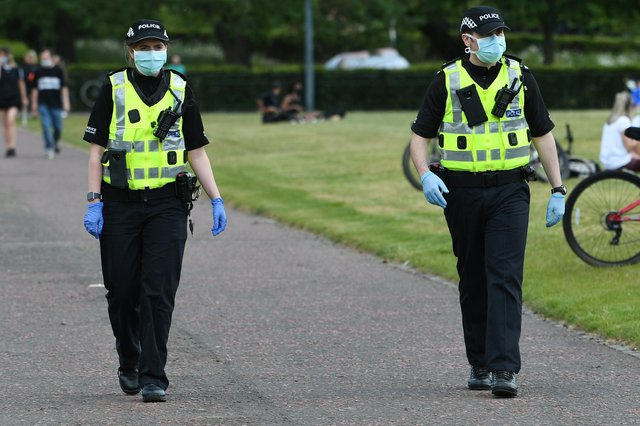 Police are supporting the Scottish Government CSE The Signs campaign. Picture: John Devlin.