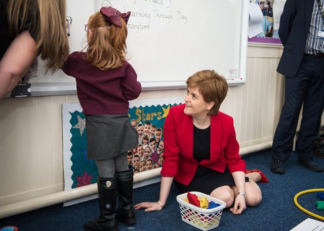 First First Minister Nicola Sturgeon meets school children after launching the Pupil Equity Fund across Scotland  (Pic: John Devlin)