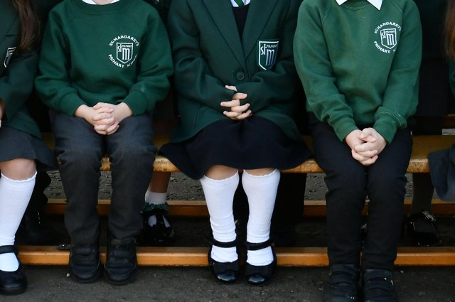 Two P1 pupils from St Margaret's Primary School went missing on Monday