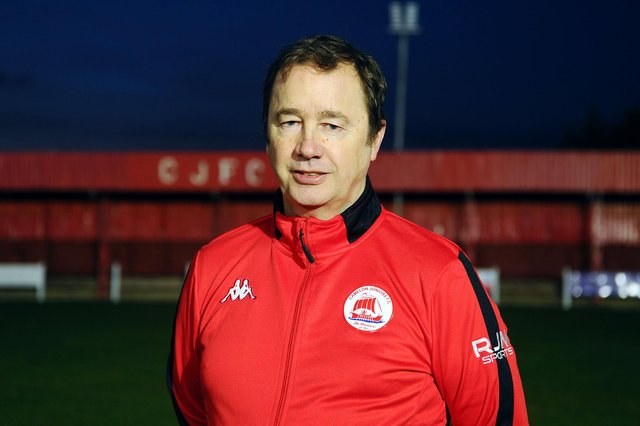 New Camelon Juniors FC manager Andy Colley