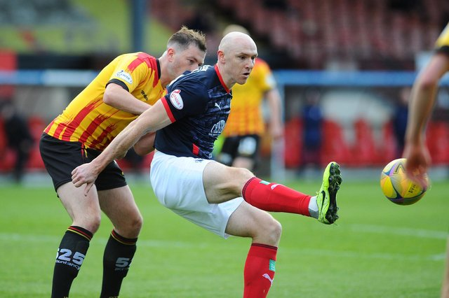 Experienced striker Conor Sammon is one of six players who will leave Falkirk at the end of the month