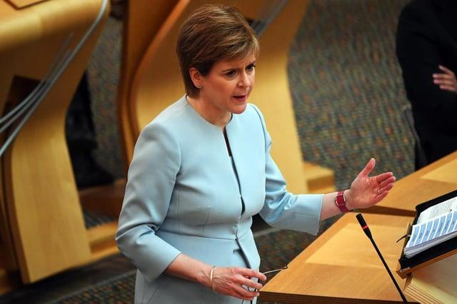 First Minister Nicola Sturgeon gave the latest coronavirus update on Tuesday.