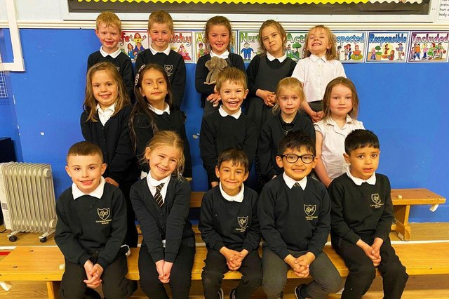 Carmuirs Primary School P1s are all smiles after winning the First Minister's Reading Challenge 2020-21. Contributed.