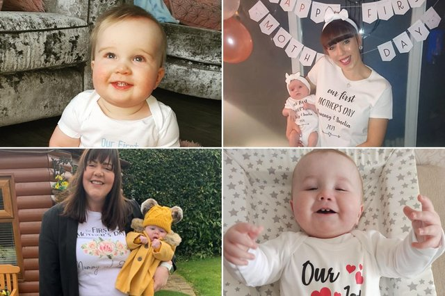 We asked you to share your pictures of mums celebrating their first Mother's Day with their lockdown babies. Here are 14 of your cuties.