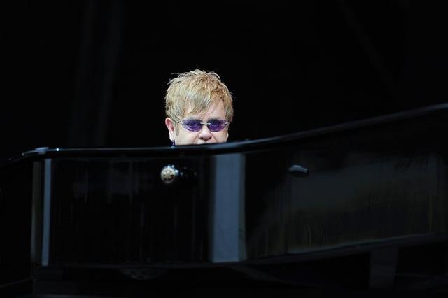 Elton John at Falkirk Stadium, June 10 2012.