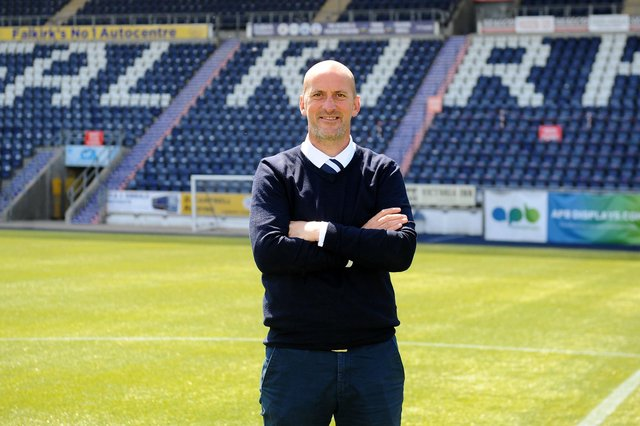 New Bairns head coach Paul Sheerin is getting ready to welcome fans back to the Falkirk Stadium (Photo: Michael Gillen)