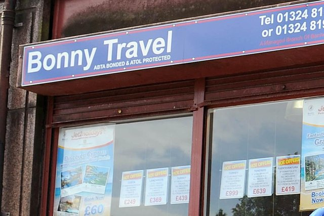 Bonny Travel in Bonnybridge is just one of the travel agents under threat
