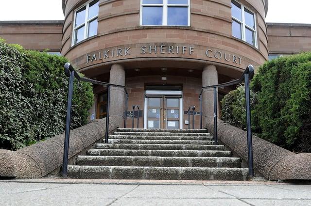 Ferguson appeared from custody via video link at Falkirk Sheriff Court yesterday