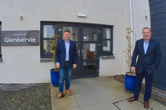 Adrian and Graeme Hendry, directors at Avondale Care Scotland outside Glenbervie.