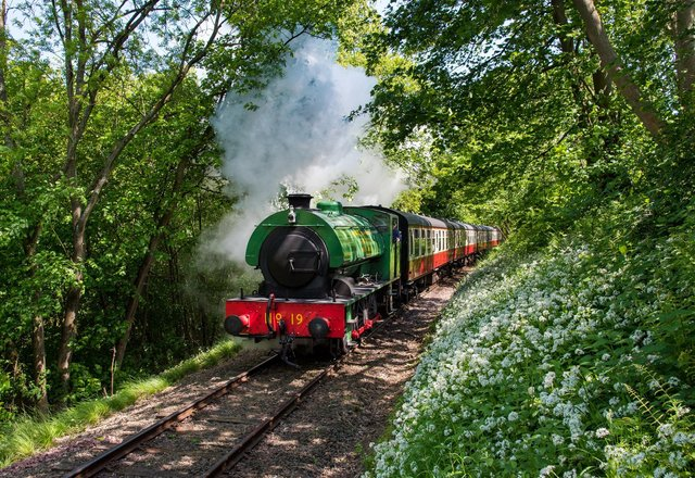 Bo'ness and Kinneil Railway will welcome visitors back for the first time in more than a year this weekend.  Pic: Contributed