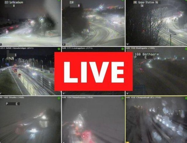 Scotland woke up to another day of heavy snowfall on Friday