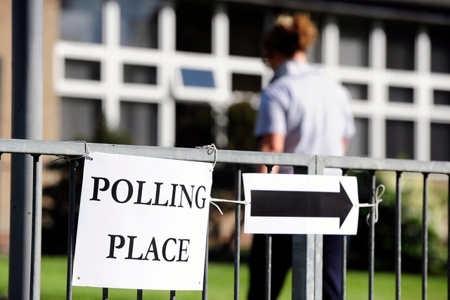The polls are open for the 2021 Scottish Parliament elections.  Pic: Michael Gillen.