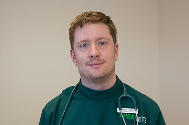Samuel Kerr is in the running to be named Vet of the Year