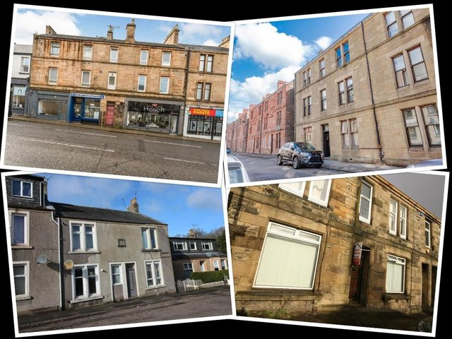Flats in the Falkirk area available to rent for under £100 per week.