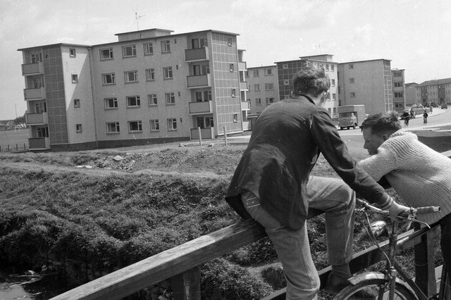 Grangemouth new houses - Number 6 development scheme in 1962.