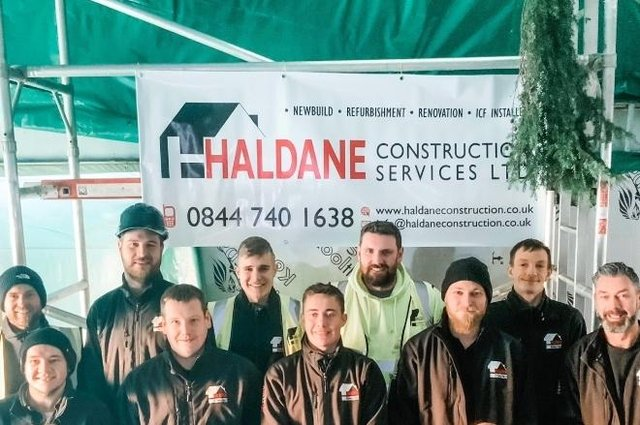 The team at Haldane celebrate their success in the Federation of Master Builders awards