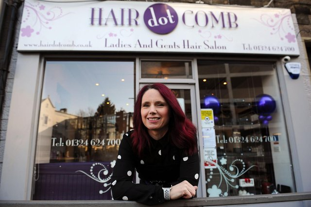 Susan Calder, owner of Falkirk salonHairdotcomb which celebrated its 20th anniversary on March 1. Picture: Michael Gillen.