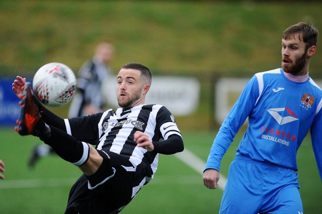 Action from Dunipace vArniston Rangers earlier in the now null & voided 2020/21 EoS season