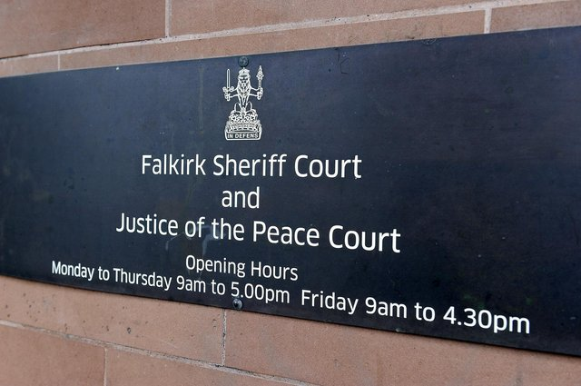 Falkirk Sheriff Court heard McAinsh assaulted and injured his partner by throwing a model car at her