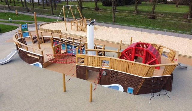KOMPAN's newly created Charlotte Dundas will be a great attraction for Zetland Park's new all inclusive play facility