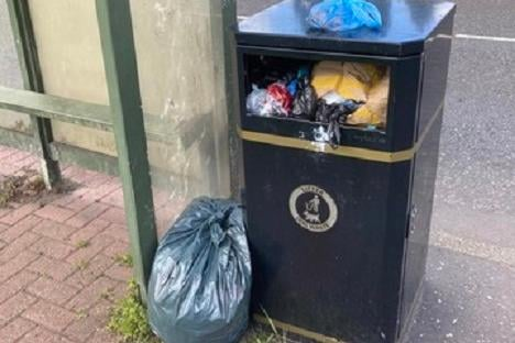 Residents have complained about overflowing bins