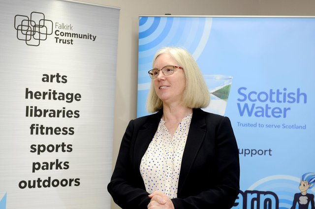 Maureen Campbell OBE will leave her role as chief executive of Falkirk Community Trust in August. Picture: Michael Gillen.