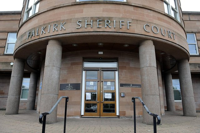Gibson appeared at Falkirk Sheriff Court on Thursday to answer for his threatening behaviour and destruction of property offences