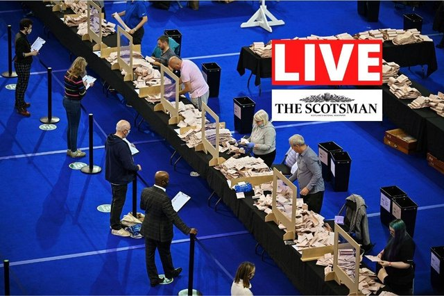 Live updates on Scotland's election count.
