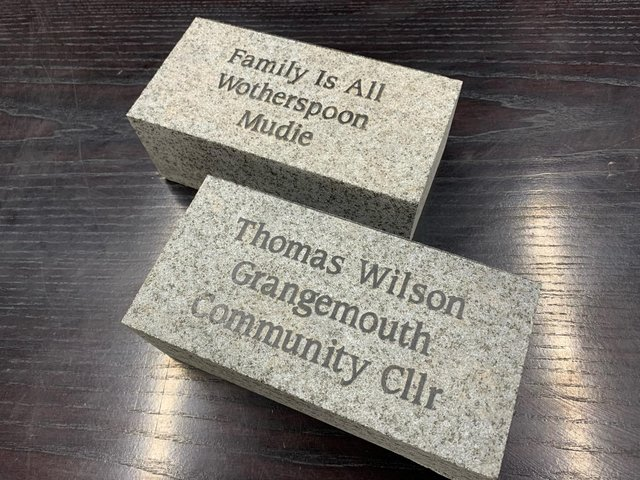 Here are some examples of the messages on the stones which will be placed on the new Portonian Path in Zetland Park