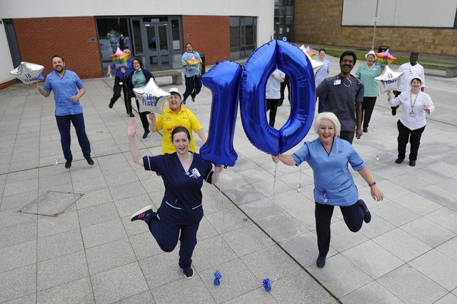 Forth Valley Royal Hospital celebrated its 10th anniversary today and also received a lovely message from the Queen