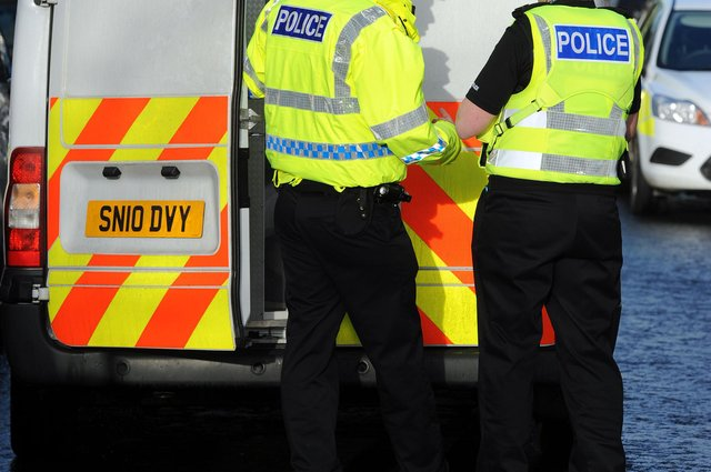 A man was arrested following reports of an assault in Grangemouth
