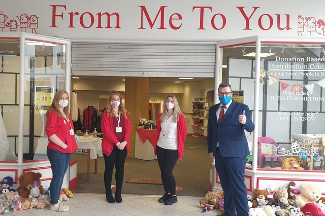 From Me To You founders Emma and Gemma McGregor, along with trustee Emma Graham, have opened a store in Callendar Square shopping centre, Falkirk. Contributed.