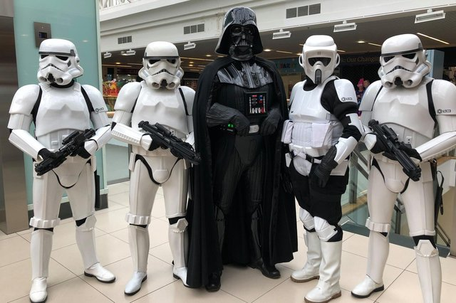Stormtroopers will be on patrol at Falkirk Stadium for this weekend's Star Wars drive-in movie event