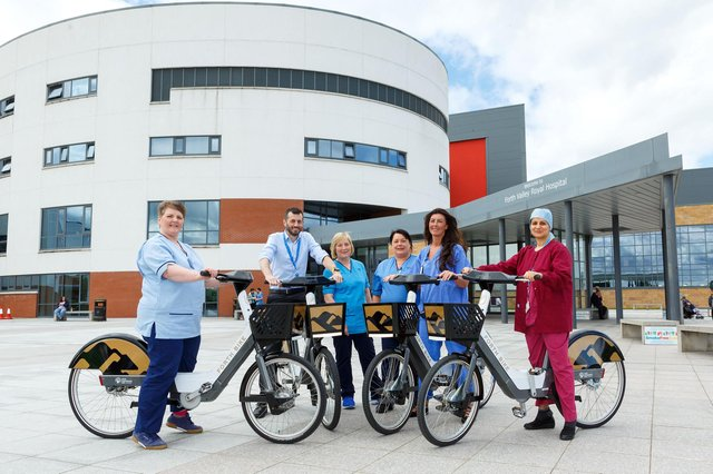 The Forth Bike project was launched in 2019 at Forth Valley Royal Hospital. Picture: Mark Ferguson.