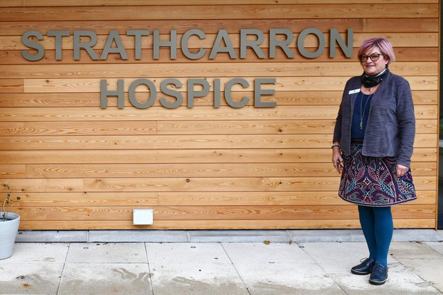 Strathcarron Hospice fundraising manager Jackie Johnston is hopeful Falkirk district residents will again play their part and raise cash for the Fankerton facility as it nears its 40th anniversary. Picture: Michael Gillen.